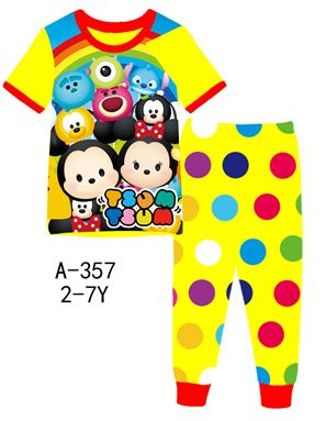 A-357 'Tsum Tsum' Pyjamas (2 - 7 tahun)
