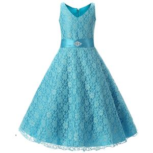 Girls Lace Princess Dress - SKYBLUE  ( SZ 130-160 )