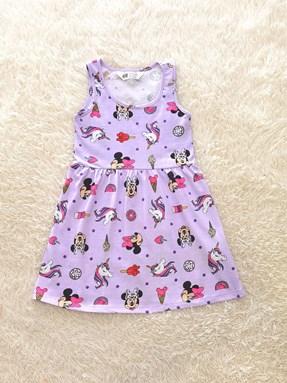 Kids Dress MINNIE UNICORN PURPLE : (size 2 - 14 sesuai utk 1y - 7y) HM