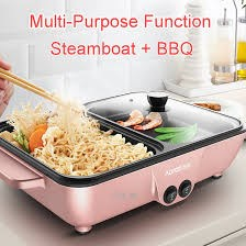 2 IN 1 MINI BBQ GRILL & STEAMBOT