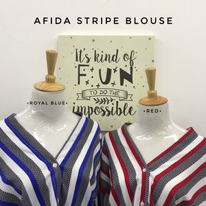 AFIDA STRIPE BLOUSE