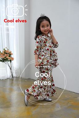 @  COOLELVES PEPLUM SCALLOP SET 1 ( SIZE 1Y-12Y )