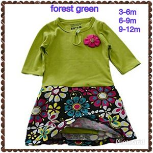 Romper Dress - Forest Green R008