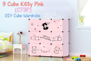 Kitty Pink 9 Cube DIY Wardrobe (CT9P)
