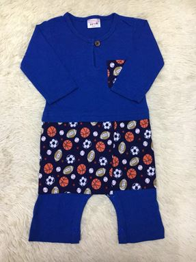 ROMPERS BAJU MELAYU AND SAMPIN BALL (ROYAL BLUE)
