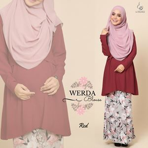 Werda Blouse : Berry Red