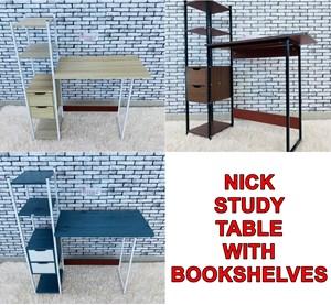 NICK STUDY TABLE WITH BOOKSHELVES