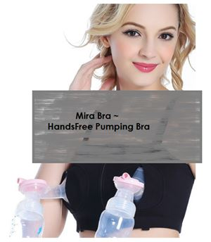 SALE! Mira Bra : Hands Free Pumping Bra (only size L available, no restock)
