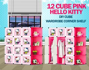 New Hello Kitty 12C DIY Cube W Corner Rack (HK12CR)