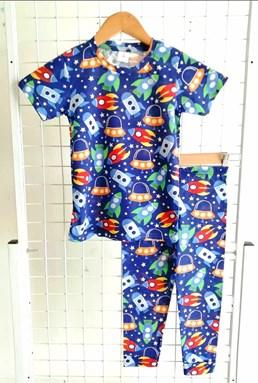 Pyjamas ROCKET BLUE : BABY size 6M - 24M (JR)
