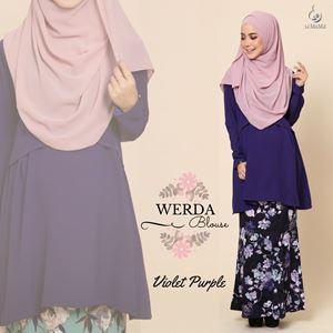 Werda Blouse : Purple Violet