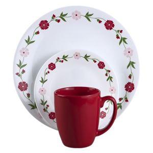 CORELLE Livingware Spring Pink 16-pc Dinnerware