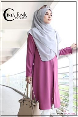 LONG BLOUSE CINTA ( PURPLE PLUM )
