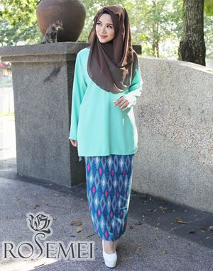 KURUNG UQASHA 2 - MINT GREEN