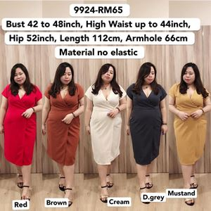 9924 Ready Stock *Bust 42 to 48inch/ 107-121cm