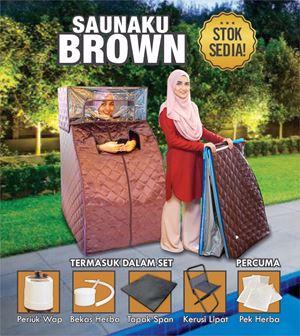 CLEARANCE YES2018 : Sauna Brown ( Sauna Wap termasuk bahagian muka dan kepala)