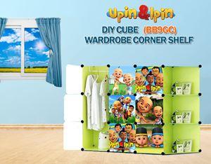 NEW Upin & Ipin GREEN 9C DIY Wardrobe with Corner Shelf (BB9GC)