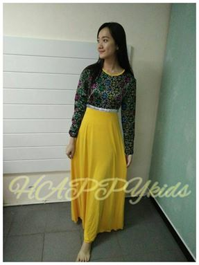 Jubah SONGKET YELLOW for LADIES