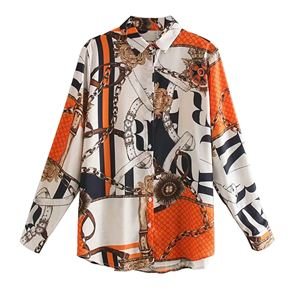 ORANGE CLASSIC PRINTED SHIRT