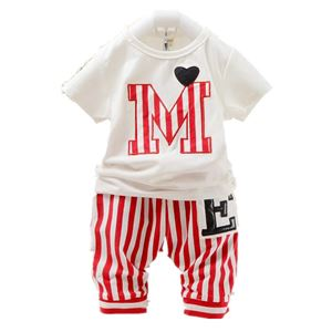 MICKEY RED & WHITE  KOREAN BABY 2pcs SET (sz80-110)