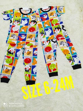 Pyjamas CAT FACE : BABY 6M- 24M