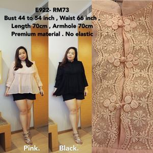 E922 *Ready Stock* Bust 44 to 54inch/111-137cm *