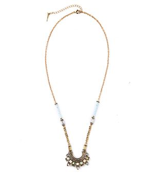 CHLOE+ISABEL LUNETTE LONG PENDANT NECKLACE INSPIRED