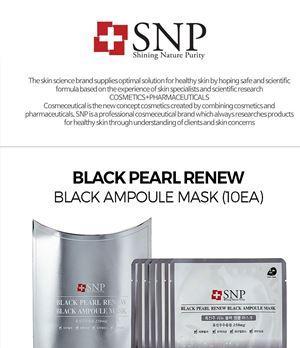 SNP Black Pearl Renew Black Ampoule Mask 1SHEET