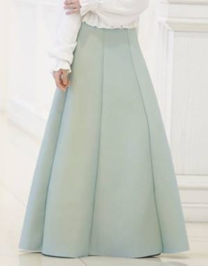 KHLOE 2.0 SKIRT IN DUSTY MINT GREEN