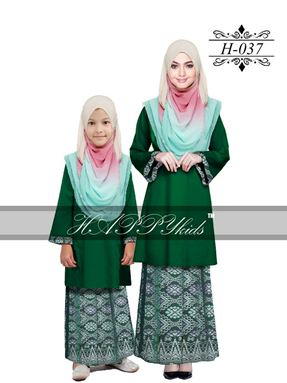 HAPPYkids 2017 Songket Exclusive GIRL ( GREEN )