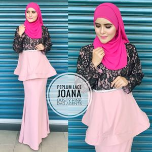 Peplum Lace Joana Dusty Pink