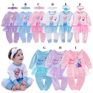 FROZEN ROMPER ( BLUE & PURPLE )  SIZE 70-80-90-95