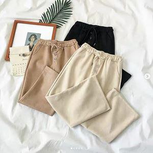 Elastic Tri Button Trousers