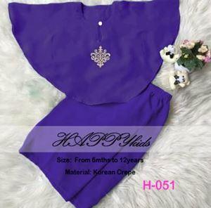 Baju Kurung Batwing - H051 - HappyKids