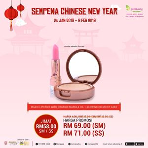 CNY PROMO : NURRAYSA Magic Lipstick With Marula Oil & Glowing DD Moist Cake