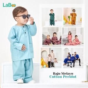 LaBoo Baju Melayu Bayi & Kanak-kanak Cotton Peridot