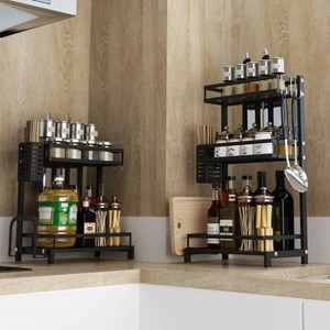 STAINLESS STEEL KITCHEN SPICE RACK