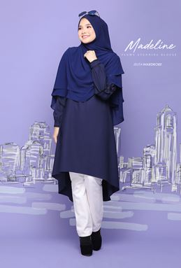 MADELINE FLOWY BLOUSE (DARK BLUE)