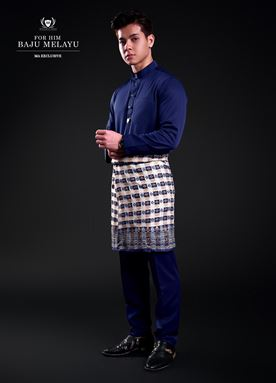 Baju Melayu For Him (Midnight Blue)