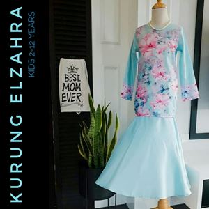 ELZAHRA MODERN KURUNG FOR KIDS ( BABY BLUE)