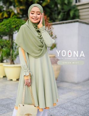 YOONA BEAUTY BLOUSE - GREEN MIST