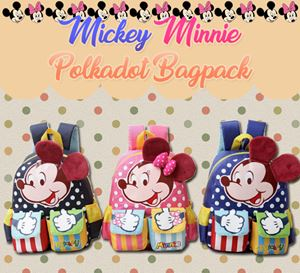 Mickey Minnie Polkadot Bagpack