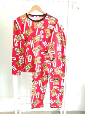 Pyjamas MOSCHINO TOY RED : Size DEWASA XL -2XL