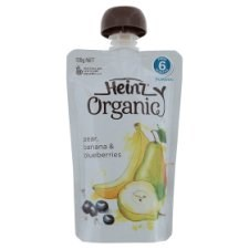 Heinz Organic Pear, Banana & Blueberries Pureed From 6 Months 120g