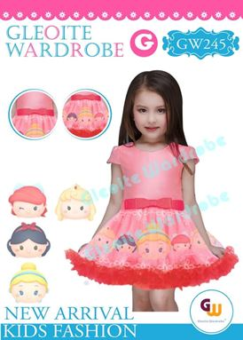 @  GW 245 DRESS  { G ~ PRINCESS PINK  }  ( SZ 2Y - 13Y )
