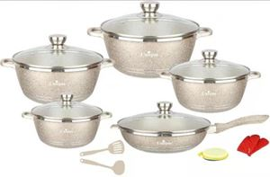 UNIQUE GERMANY 15 PCS COOKERWARE