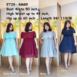 ET29 *Ready Stock *Bust 40 to 50inch/102-127cm