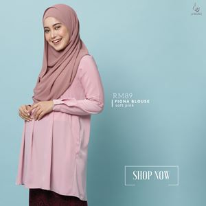 Fiona Blouse : Soft Pink