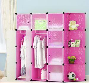 Flower Pink 12C DIY Cube w Corner Rack (FP12CR)