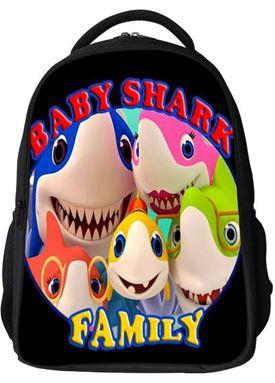 BABY SHARK FAMILY SCHOOL BAG